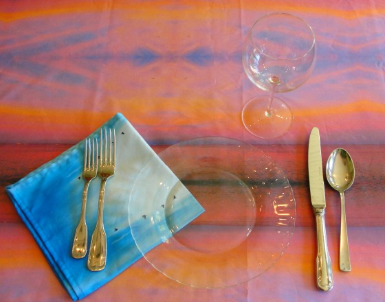 Mexican Sunset Table Setting